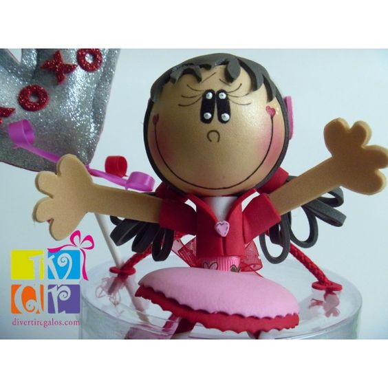 Fofuchas+San+Valentin | ... Regalos originales : > San Valentín : > Mini - fofucha Valentín