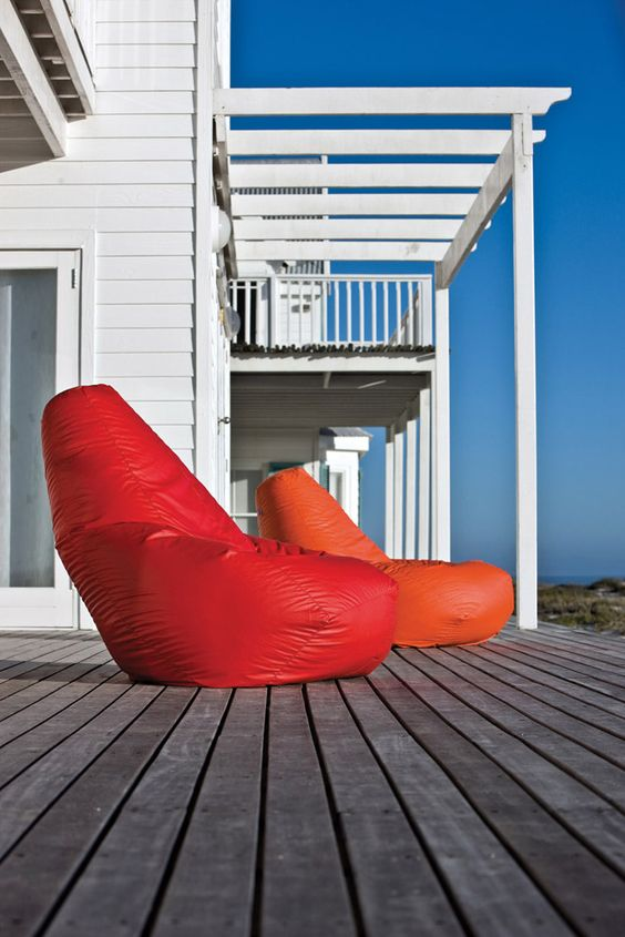 Outdoor Armchair Sacco by Zanotta | #designbest #sacco #outdoor @zanotta |
