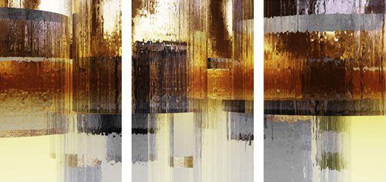 City Rain Triptych - Menaul Fine Art