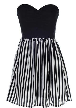 Monochrome Sweetheart Dress :)