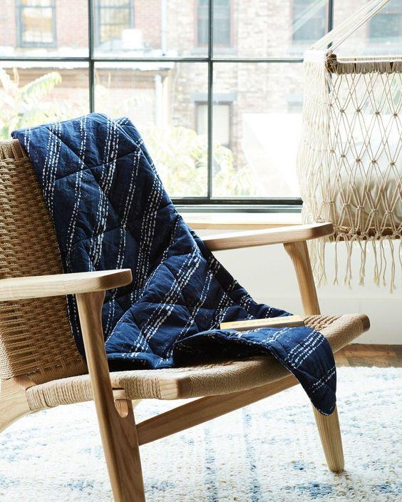 Organic Quilt - Shibori
