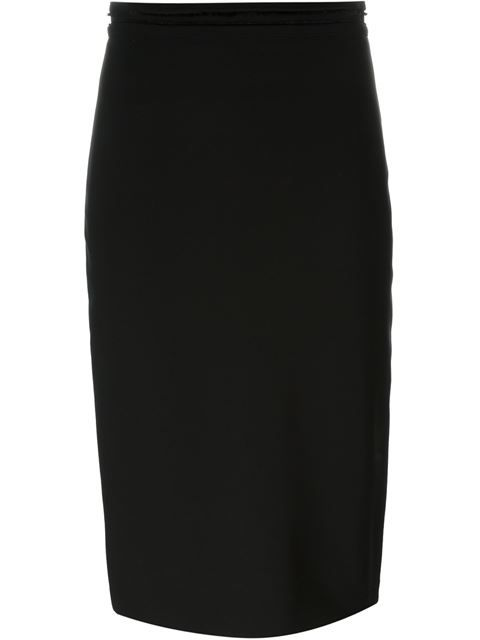 GIVENCHY Frayed Edge Pencil Skirt. #givenchy #cloth #skirt
