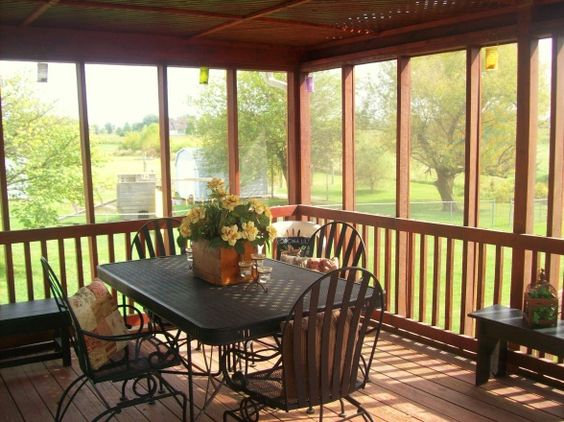 Screened in porch decorating ideas screened in porch Screened in porch decor