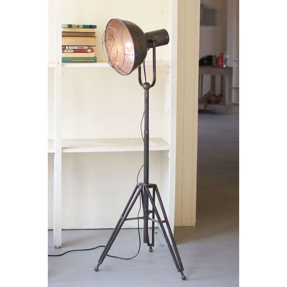 Tripod Iron Work Lamp - Modern Industrial Office Collection - Dot & Bo