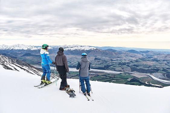 Mt Hutt - View across plains