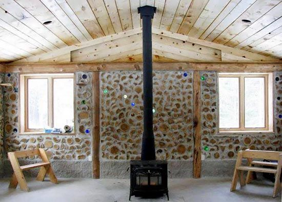 A Cordwood Construction Community Center - Green Homes | Cord ...