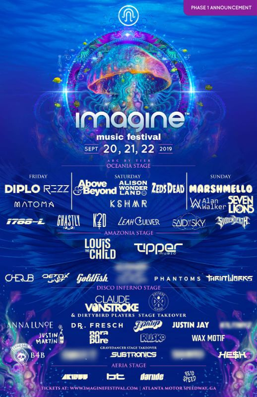 Imagine Music Festival 2019 With Images Music Festival Edm