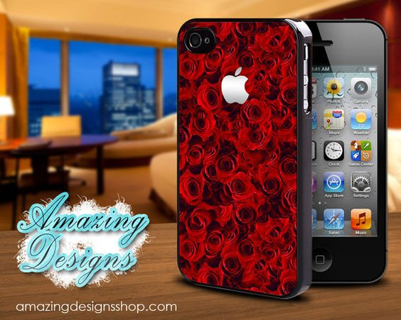 Red Roses, Love, Sexy, Beautiful, Unique, Different, iPhone 4 Case, iPhone 4S Case, iPhone Case, Case for iPhone on Etsy, $10.94
