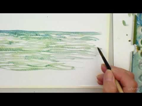 Painting Ripple In Water Freehand Youtube Watercolor