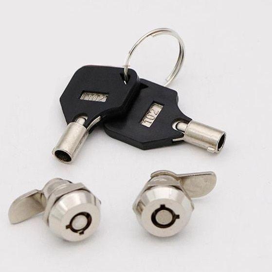 1pcs Security Furniture Locks Hardware Cam Lock For Security Door Cabinet Mailbox Drawer Cupboard Locker With 2 Keys Review Security Door Locker Locks Lockers