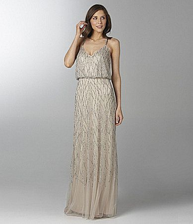 Adrianna Papell Beaded Gown #Dillards Would be beautiful on my ...