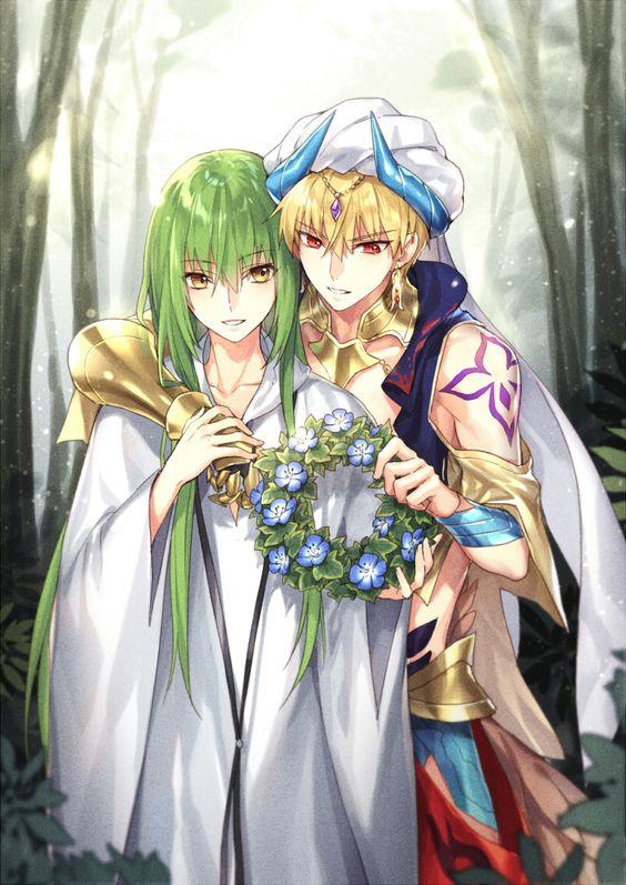 エルキドゥと花の冠とギルガメッシュ