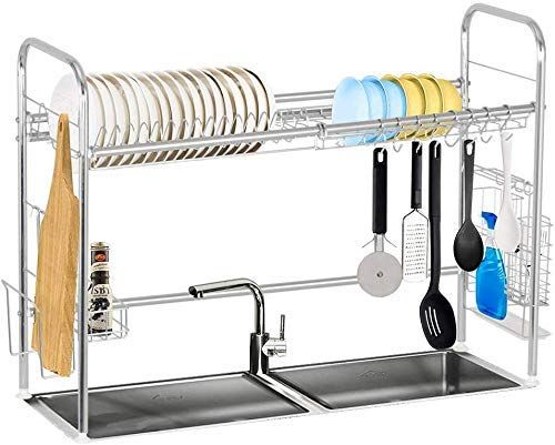 Amazon Com Over Sink Dish Rack Stainless Steel Dish Drainer Board Rack Kitchen Counter Adjustable Kitchen Dish Dish Rack Drying Dish Racks Kitchen Sink Rack