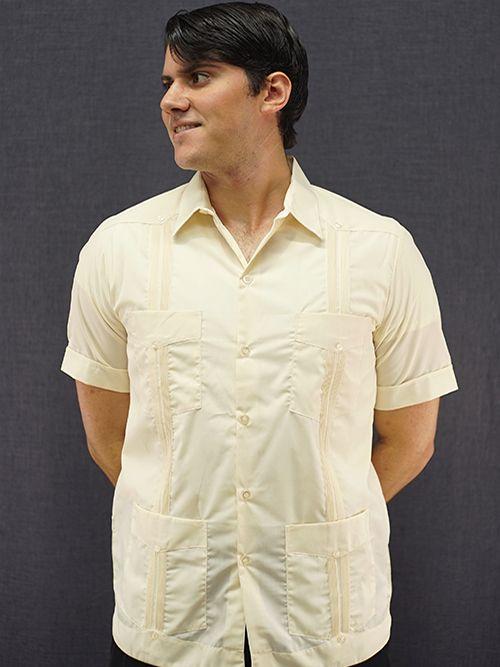 Men S Authentic Cuban Guayabera Shirt 100 Linen Champagne D Accord 2263 Mexican Wedding Shirt Wedding Shirts Cuban Guayabera