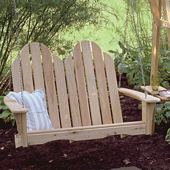 18 cool adirondack porch swing plans image ideas porch for Cool porch swings