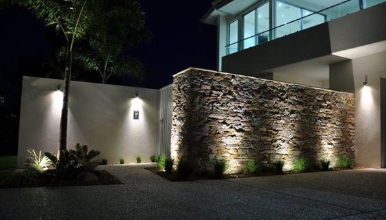 Qu piedras escoger para revestir un muro lugares para - Luces para jardines exteriores ...