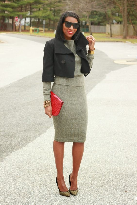 DIY herringbone pencil skirt and sweatshirt-Beaute' J'adore | Just ...