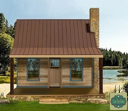 This Texas Tiny Home plan is ideal for lake lots mountain get a