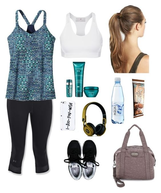 """Time to Workout"" by shagurl ❤ liked on Polyvore featuring Under Armour, New Balance, France Luxe, Kerastase, adidas and Beats by Dr. Dre"