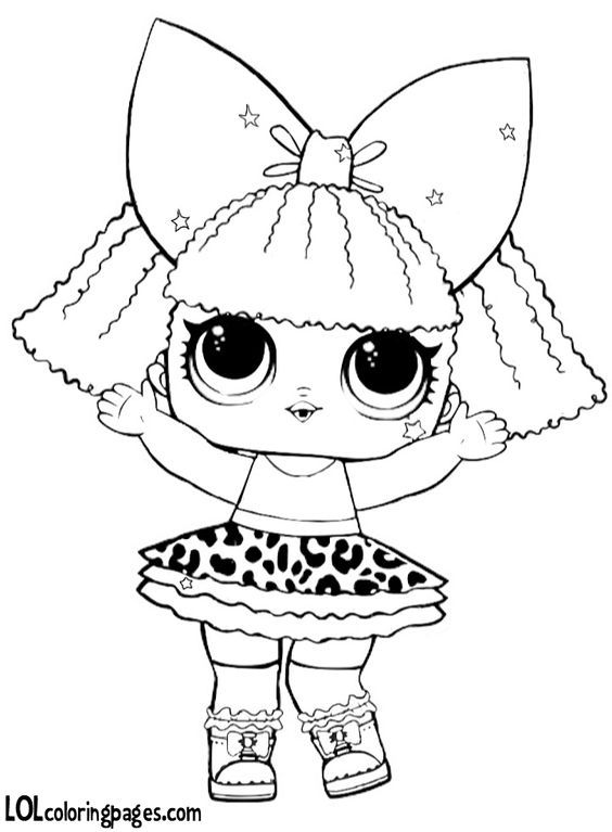 Diva Glitter Jpg 720 980 Pixels Lol Dolls Coloring Sheets Coloring Pages