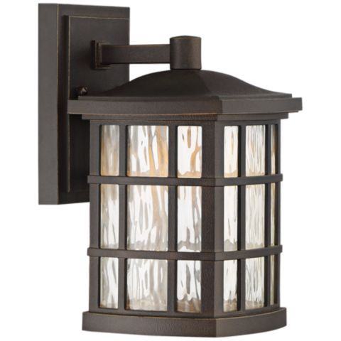 Stonington 10 1 2 H Palladian Bronze Led Outdoor Wall Light 1p504 Lamps Plus Led Outdoor Wall Lights Outdoor Walls Outdoor Wall Sconce