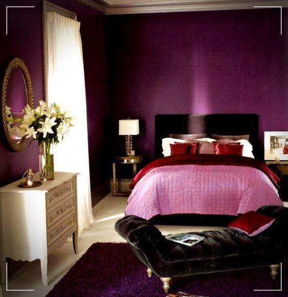 Colores Para Dormitorios Modernos 2019 Ideas Y Tendencias En Colores Para Dormitorios Colores Para Bedroom Color Schemes Sophisticated Bedroom Purple Bedrooms