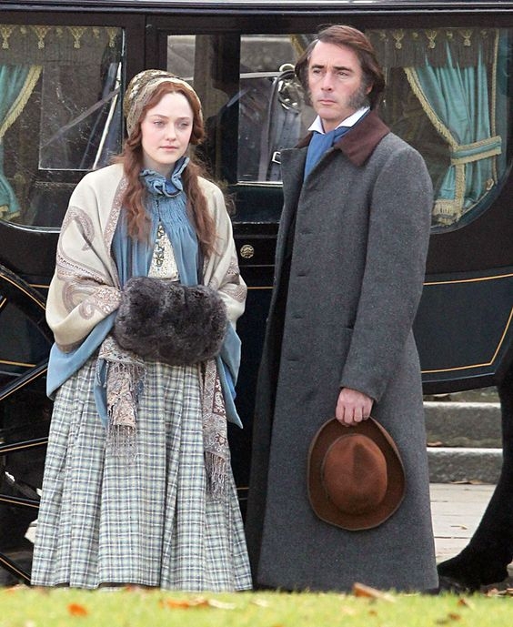 Dakota Fanning and Greg Wise in 'Effie Gray (2014). Effie is a movie about the mysterious relationship between Victorian art critic John Ruskin (Wise) and his teenage bride Effie Gray (Fanning).