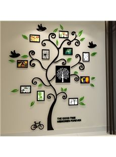 Sticker mural 3d cadre de photo arbre d corer sa maison - Arbre genealogique stickers ...
