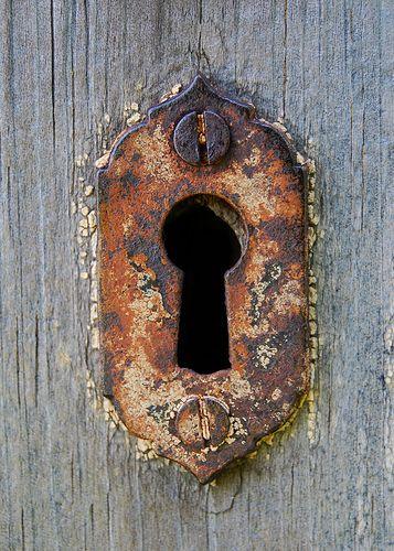 A lovely old keyhole