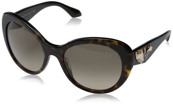 Prada Women's 0PR 26QS Havana/Light Brown Gradient Sunglasses. Made in USA or Imported.