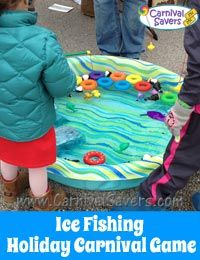 Ice fishing holiday carnival game http www for Ice fishing games free
