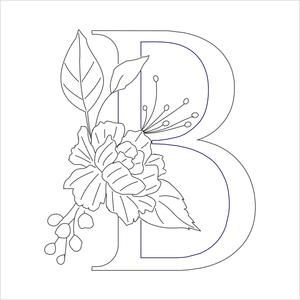Pdf Floral Monograms Hand Embroidery Patterns Free Hand Embroidery Art Embroidery Template