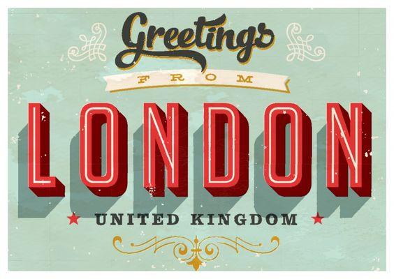 Greetings from London -Vintage Style | Urlaubsgrüße | Echte Postkarten online…