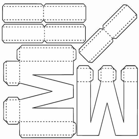 Alfabeto Em Moldes De Caixas Para Imprimir E Montar Festas
