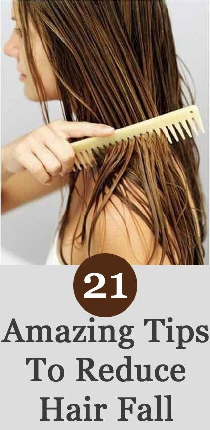Reduce hair fall, 21 things and Hair on Pinterest