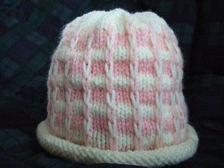 Hat shown is ladies small. You can make hat larger by casting on more stitches in multiples of 4.