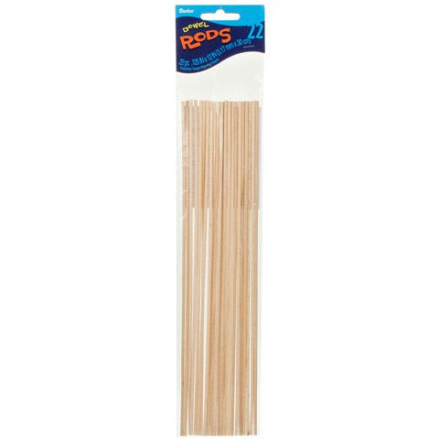 Dowel Rod Wood 1 8 X 12 Inches 22 Pieces Unfinished Wood Wood Dowels