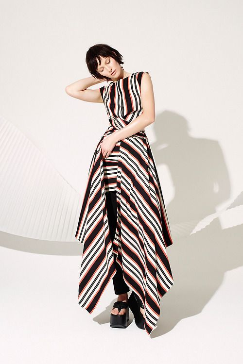 Stripes looking fabulous in every direction at the @Sass_and_bide #LFW #SS15 presentation.