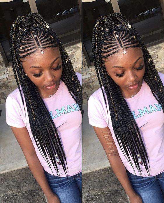 Pin By Tutu Ade On Hairstyles African Hair Braiding Styles Hairdo For Long Hair African Braids Hairstyles
