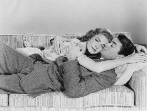 Lauren Bacall and gregory peck