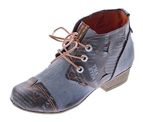 TMA Damen Stiefeletten Bunt Echtleder Schuhe Comfort Leder Knöchelschuhe TMA 6109 Boots Gr. 36 - 42 - http://on-line-kaufen.de/tma/tma-damen-stiefelletten-echtleder-schuhe-leder