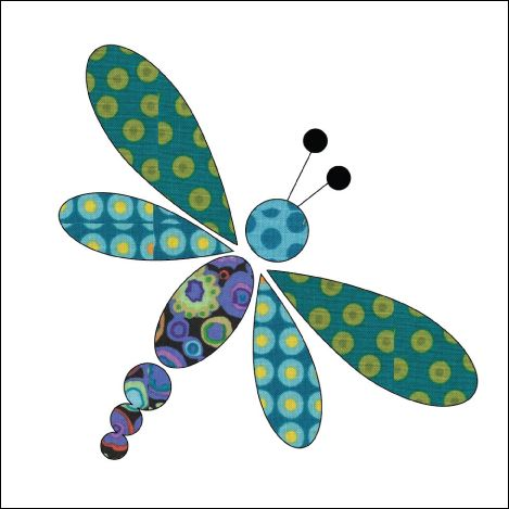 (7) Name: 'Quilting : Applique Add On's -Dragonfly