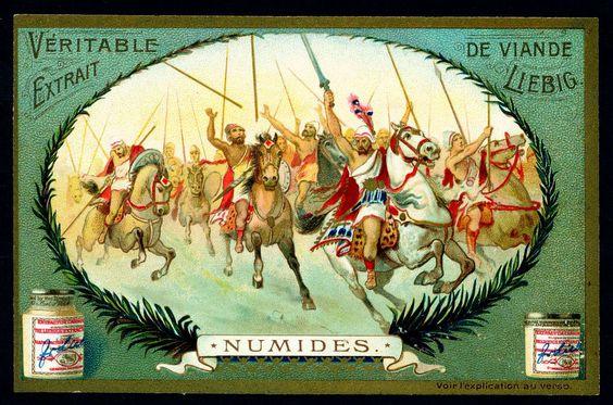 Cavalery II Numides  Liebig Beef Extract, Belgian issue, 1904