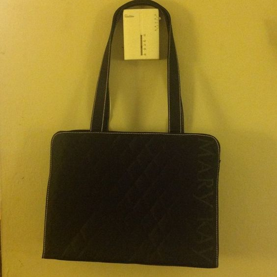 """Large Mary Kay Quilted Black Bag. Brand new, never used huge black patent bag with a lot of compartments, closes with zipper very secure... 15"""" high X 11"""" wide and the handle has 13"""" drops. Great Condition.... :-) Mary Kay Bags"""