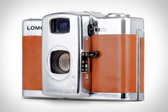 Lomo LC+A Silver Lake Camera. Get all old school with some film. Even comes in a wooden box. PURTY!