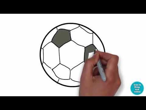 How To Draw A Soccer Ball Draw A Soccer Ball Drawing Tutorial For Kid Drawing Tutorials For Kids Ball Drawing Soccer Ball