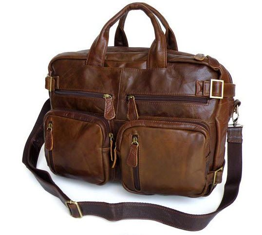 """ModernManBags.com - """"Rome"""" Men's Vintage Leather Convertable Backpack"""