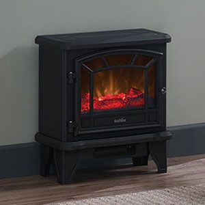 Free Standing Electric Stoves Electricfireplacesdirect Com Black Electric Fireplace Electric Stove Stove