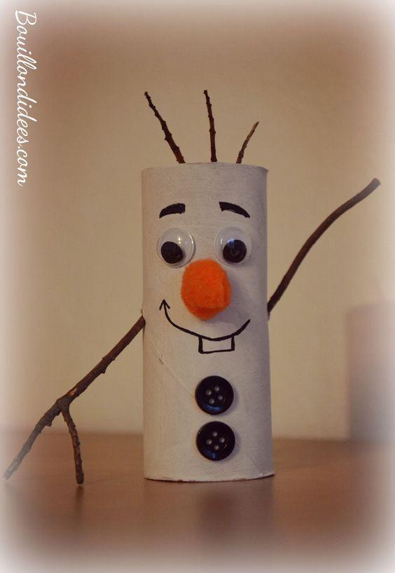 Diy no l bonhomme de neige olaf reine des neiges en - Diy rouleau papier toilette ...