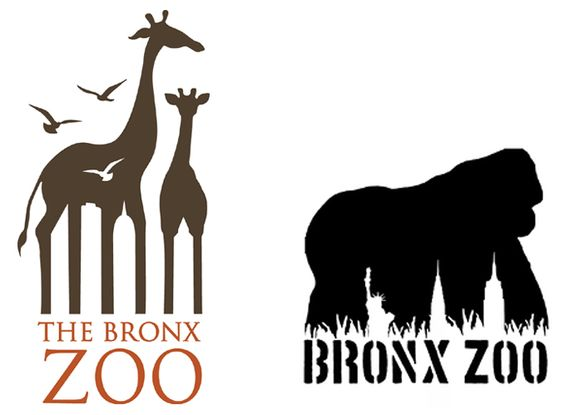 The Bronx Zoo is the largest metropolitan zoo in North America, priding itself on wildlife conservation and the goal to connect people to wild nature. The logos represent this by meshing wildlife silhouettes with the city skyline of New York. The use of negative space nicely incorporates together the wild life zoo residing within the concrete jungle of NYC.